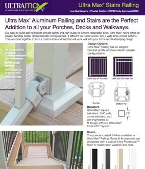 Ultra Max Aluminum Railing