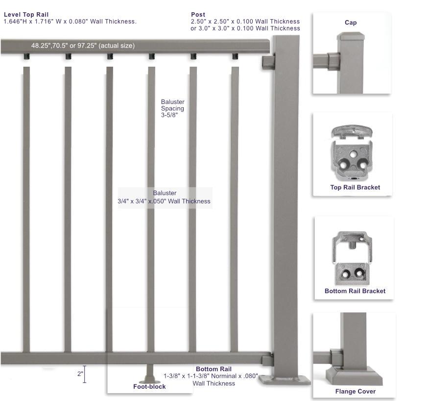 Ultra Max Aluminum Railing -